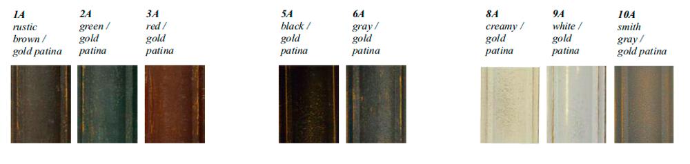 aakanden jernmøbler guld patina